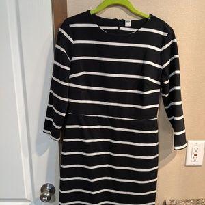 cropped mini striped dress